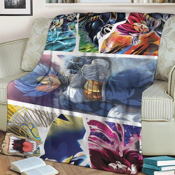 Dragon Ball Z Vegeta All Forms Fantastic Landscape Blanket