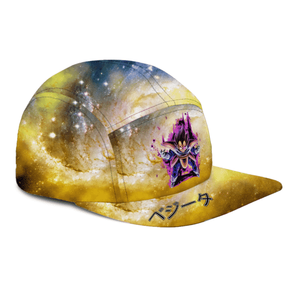 Dragon Ball Z Vegeta Base Form Purple Aura Galaxy Camper Cap