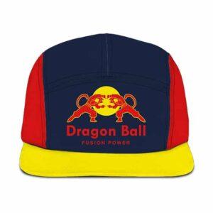 Dragon Ball Z Vegeta Goku Red Bull Parody Fusion Five Panel Cap