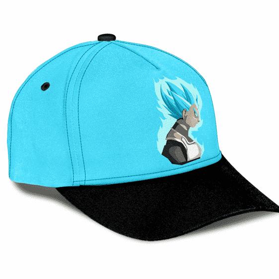 Dragon Ball Z Vegeta Super Saiyan Blue Flat Design Dad Cap