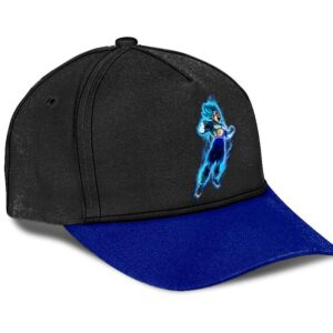 Dragon Ball Z Vegeta Super Saiyan God Black Blue Baseball Cap