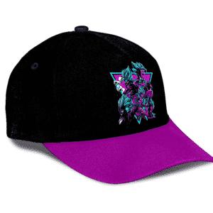 Dragon Ball Z Vegito And Gogeta In Retro Neon Black Dad Hat