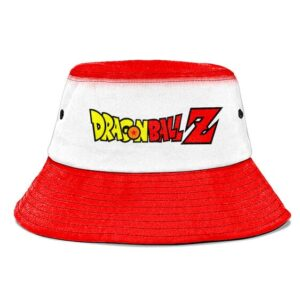 Dragon Ball Z White and Red Simple but Awesome Bucket Hat