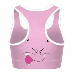 Fat Majin Buu Dragon Ball Z Pink Cool and Cute Sports Bra