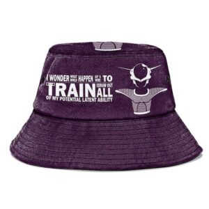 Frieza Quote Dragon Ball Z Purple and Powerful Bucket Hat