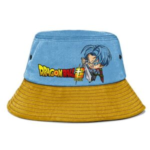 Future Trunks Dragon Ball Super Denim Blue Gold Bucket Hat
