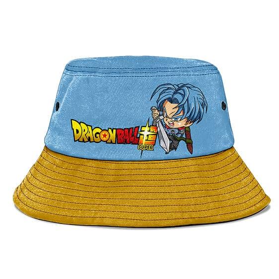 Future Trunks Dragon Ball Super Denim Blue Gold Bucket Hat