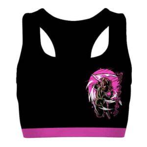 Goku Black Dragon Ball Super Black and Pink Cool Sports Bra