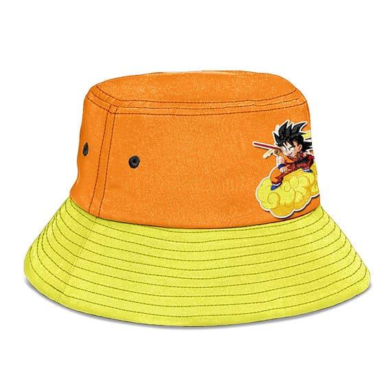 Goku Riding Kinton Cloud Dragon Ball Orange Yellow Bucket Hat