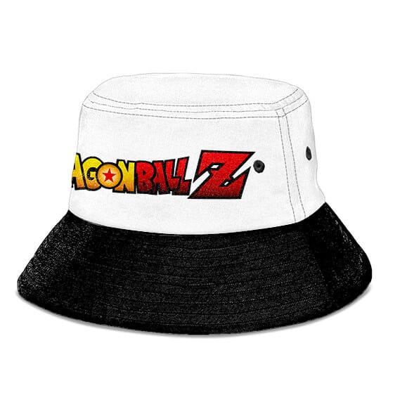 Goku Spirit Bomb Dragon Ball Z White and Black Bucket Hat