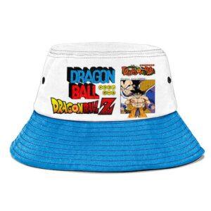 Goku vs Vegeta Dragon Ball Z White Blue Awesome Bucket Hat