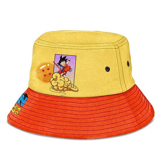 Goku with Kinton Cloud Dragon Ball Yellow Orange Bucket Hat