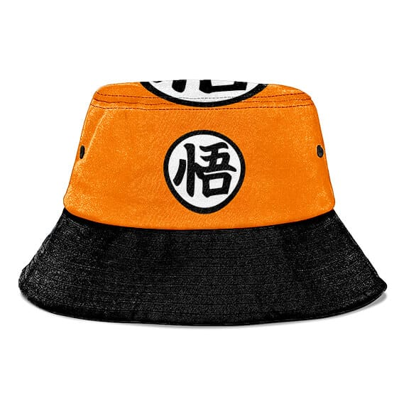 Kame Kanji Dragon Ball Z Orange and Black Cool Bucket Hat