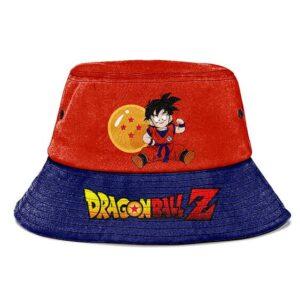 Kid Gohan 4 Star Dragon Ball DBZ Orange and Blue Bucket Hat