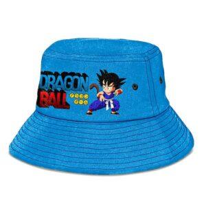 Kid Goku Dragon Ball Light Blue Cool and Awesome Bucket Hat