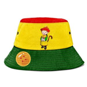 Kid Son Gohan Dragon Ball Z Yellow Green Red Cute Bucket Hat