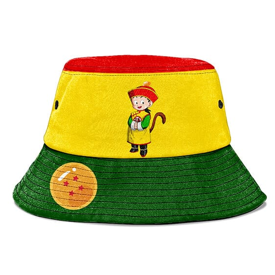 Kid Son Gohan Dragon Ball Z Yellow Green Red Cute Bucket Hat