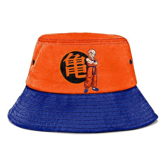 Krillin Kanji Bragon Ball Z Orange and Blue Cool Bucket Hat