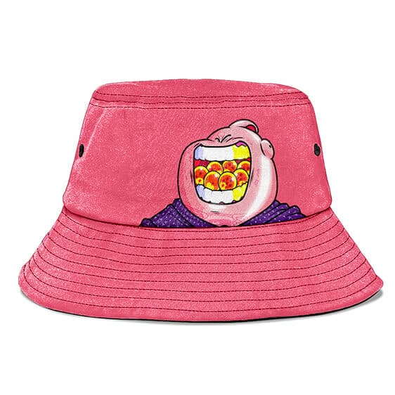 Majin Buu and the Dragon Balls DBZ Pink and Cute Bucket Hat