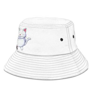 Master Karin Dragon Ball Z White Cool and Awesome Bucket Hat