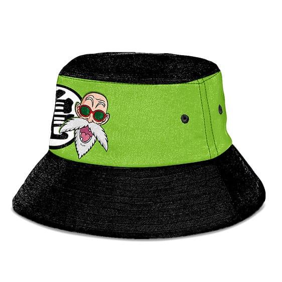 Master Roshi Symbol Dragon Ball Z Green Black Bucket Hat