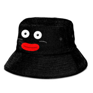 Mr Popo Face Dragon Ball Z All Black and Cute Bucket Hat