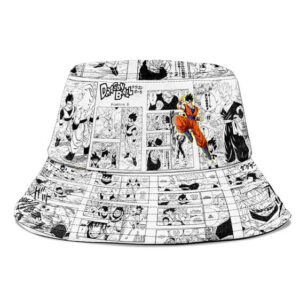 Mystical Son Gohan Manga Strip Cool and Powerul Bucket Hat