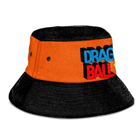 Old School Dragon Ball Orange and Black Awesome Bucket Hat