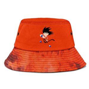 Orange Minimalist Tie Dye Kid Goku Dragon Ball Bucket Hat