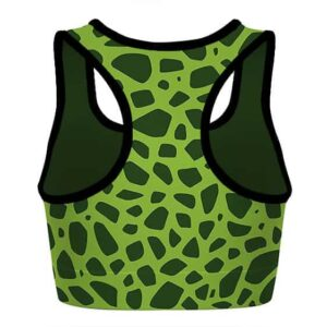 Perfect Cell Costume Dragon Ball Z Green Awesome Sports Bra