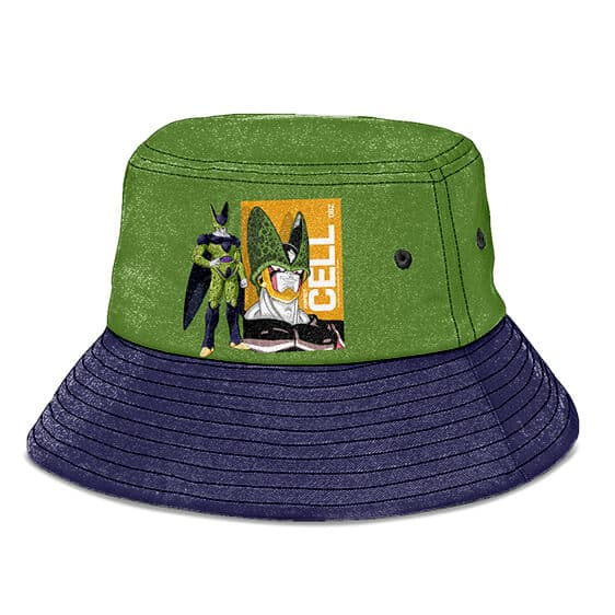 Perfect Cell Dragon Ball Z Green and Gray Cool Bucket Hat