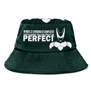 Perfect Cell Quote Dragon Ball Z Green Powerful Bucket Hat