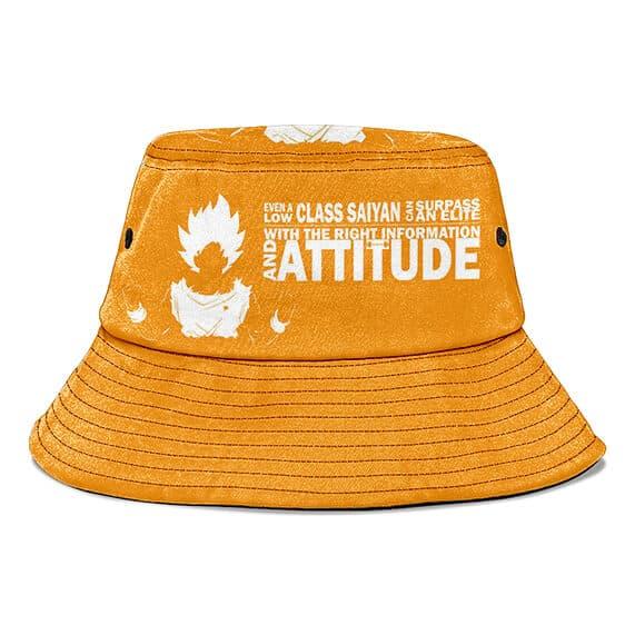 SSJ Goku Quote Dragon Ball Z Orange and Powerful Bucket Hat