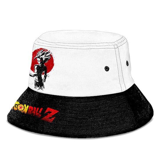 SSJ2 Gohan Dragon Ball Z Black and White Powerful Bucket Hat