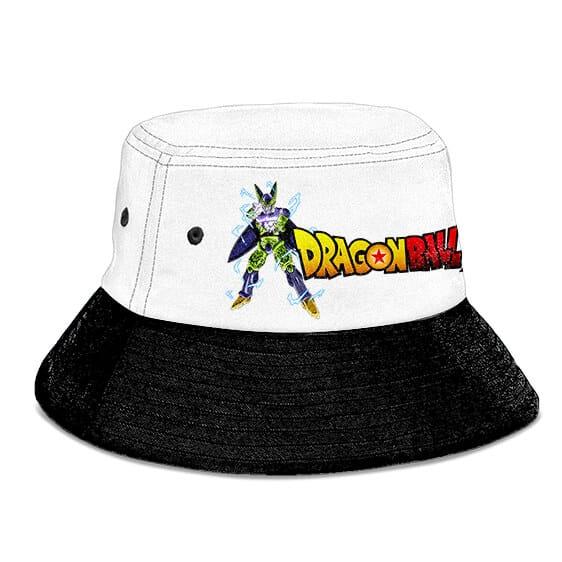 SSJ2 Gohan vs Cell Dragon Ball Z White and Black Bucket Hat