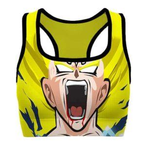 SSJ2 Majin Vegeta Dragon Ball Z Cool and Powerful Sports Bra