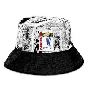 SSJ2 Son Gohan Manga Strip Black and White Cool Bucket Hat