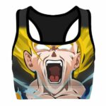 SSJ2 Son Goku Dragon Ball Z Cool and Powerful Sports Bra