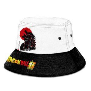 SSJ3 Goku Ohuzaru Dragon Ball Super B & W Awesome Bucket Hat
