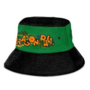 Shenron Dragon Ball Dark Green Black Super Cool Bucket Hat