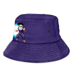 Son Gohan Ki Energy Kanji DBZ Purple and Powerful Bucket Hat