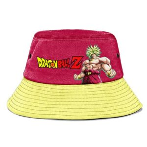 Super Saiyan Broly Dragon Ball Z Red Yellow Cool Bucket Hat