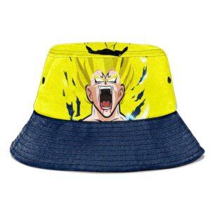 Super Saiyan Majin Vegeta Yellow and Black Cool Bucket Hat