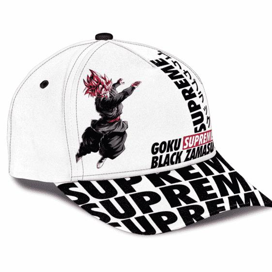 Supreme Inspired Art Rose Goku Black Zamasu Dad Baseball Cap