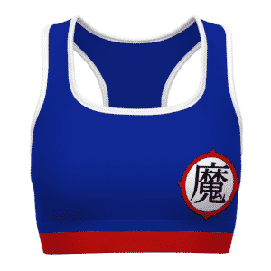 Piccolo Kanji Costume DBZ Blue Red White Awesome Sports Bra