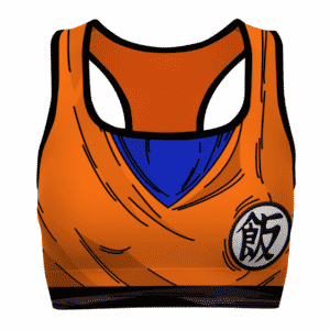 Son Gohan Detailed Cosplay Dragon Ball Z Powerful Sports Bra