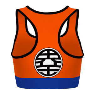 Son Goku Kanji Dragon Ball Z Orange Blue Awesome Sports Bra