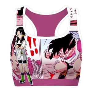 Videl Anime and Manga Dragon Ball Cool Awesome Sports Bra