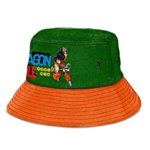 Yamcha Dragon Ball Green and Orange Nice and Cool Bucket Hat