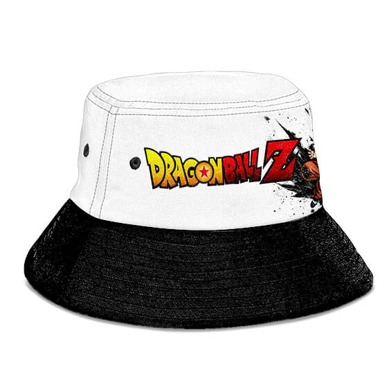 Yamcha Dragon Ball Z White Black Cool and Awesome Bucket Hat